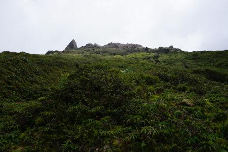 Začiatok výstupu na sopku La Grande Soufriére, najvyšší vrch Malých Antíl