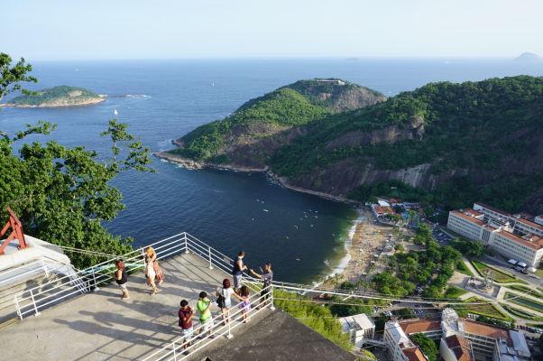 Výhľad z Morro da Urca v Riu de Janeiro