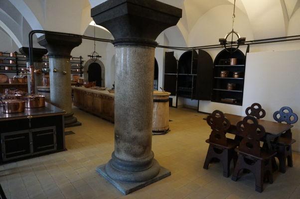 Hrad Neuschwanstein - kuchyňa je jediné miesto vo vnútri hradu, kde sa smie fotografovať