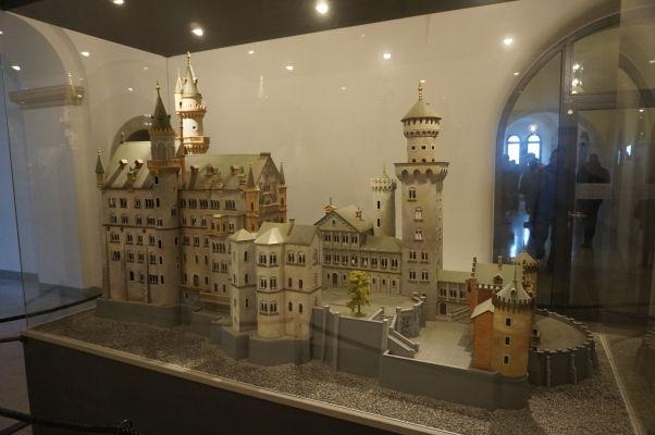 Hrad Neuschwanstein - maketa v útrobách hradu
