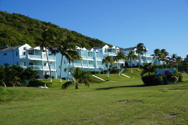 Hotelové apartmány neďaleko pláže v zálive Frigate Bay na ostrove Svätý Krištof