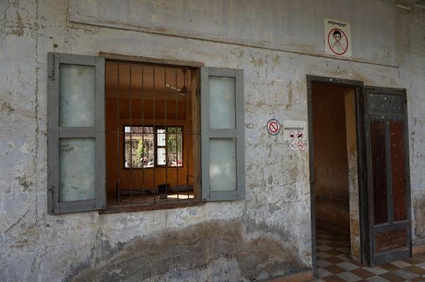 Jedna z ciel pre výsluch vo väzení Tuol Sleng v Phnom Penhu
