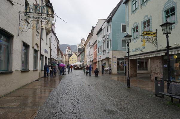 Malebné (i keď trochu upršané) uličky bavorského mestečka Füssen