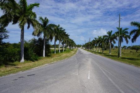 Cesta k letisku na Anguille