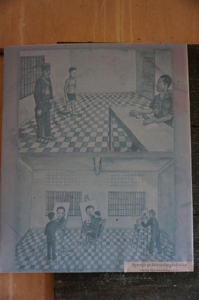 Niektorí väzni vo väzení Tuol Sleng sa vyhli krutému zaobchádzaniu vďaka tomu, že vedeli maľovať