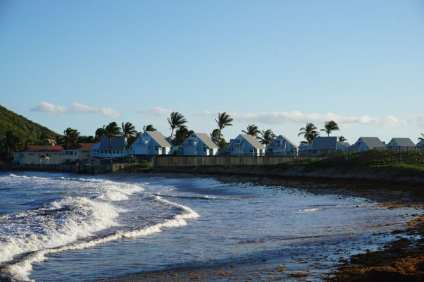 Záliv North Frigate Bay na ostrove Svätý Krištof