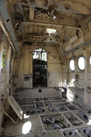 Kabína vraku lietadla An-2 na grenadskom letisku Pearl Airport