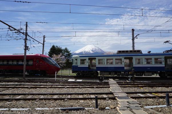 Hora Fudži pri pohľade zo stanice Kavagučiko