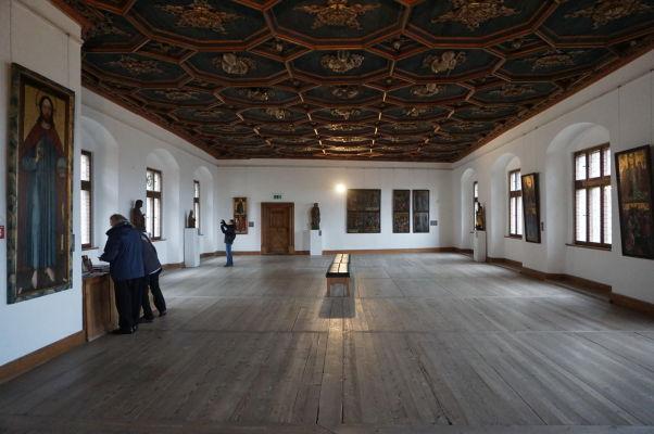 Vysoký zámok (Hohes Schloss) v meste Füssen - jeho sály slúžia i ako galéria bavorského gotického a renesačného výtvarného umenia