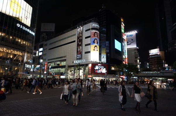Štvrť Šibuja (Shibuya) v Tokiu