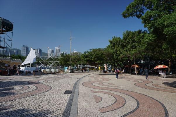 Námestie Barra pri prístave v Macau