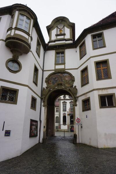 Vstup do Kláštora sv. Manga v bavorskom mestečku Füssen