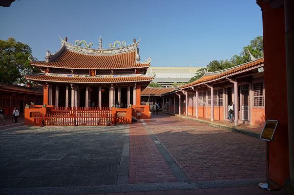 Konfuciov chrám v Tchaj-nane - hlavná svätyňa