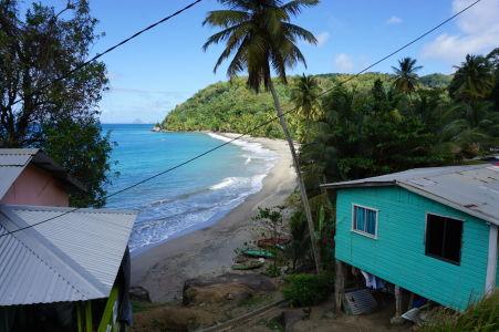 Výhľad na jednu z pláží na Grenade