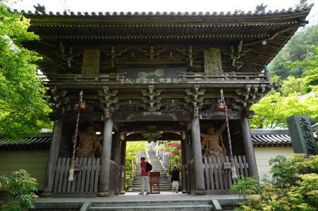 Brána niómon v komplexe Daišó-in
