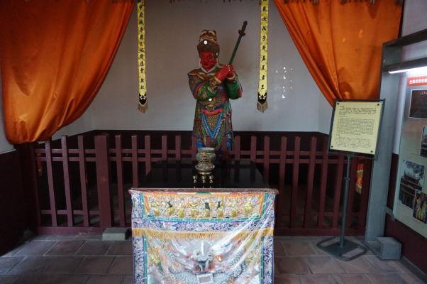 Socha jedného z veliteľov Koxingovej armády v Koxingovej svätyni v Tchaj-nane