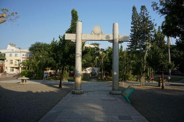 Brána pred Koxingovou svätyňou v Tchaj-nane