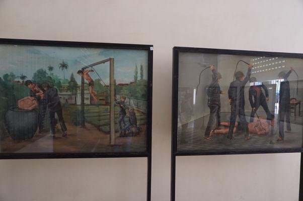 Mučenie väzňov - Obrazy vo väzení Tuol Sleng (S-21) v Phnom Penhu