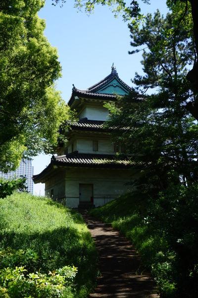 Cisársky palác v Tokiu - Fudžimi-Yagura (Hradná veža hory Fudži) - jedna z posledných troch hradných veží Cisárskeho paláca, ktore z pôvodných 19-tich zostali