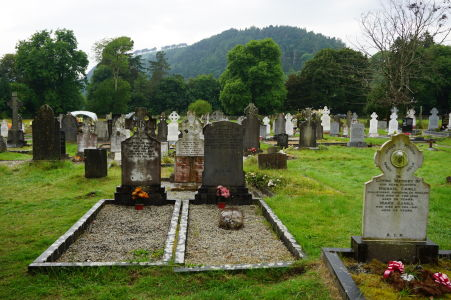 Cintorín v kláštore v Glendalough