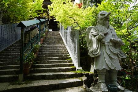 Socha goblina Tengu v Daišó-in