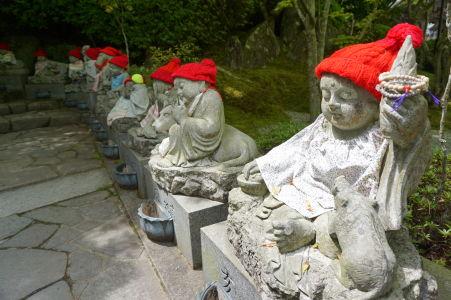 Sošky v budhistickom komplexe Daišó-in