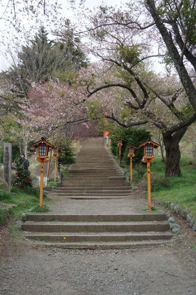 Schodisko k pagode Čureito