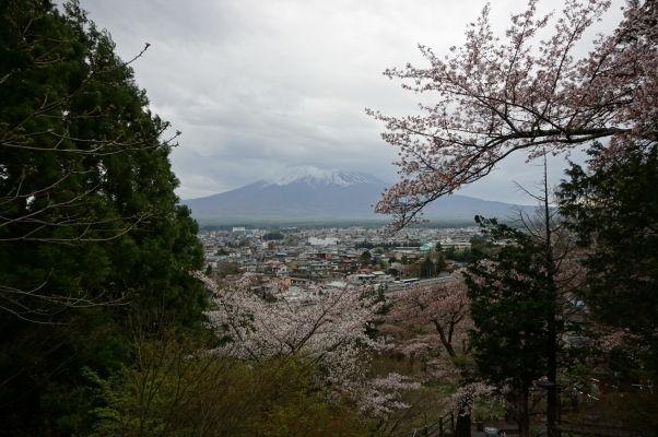 Výhľad na horu Fudži spod pagody Čureito