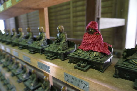 Minisošky v budhistickom komplexe Daišó-in