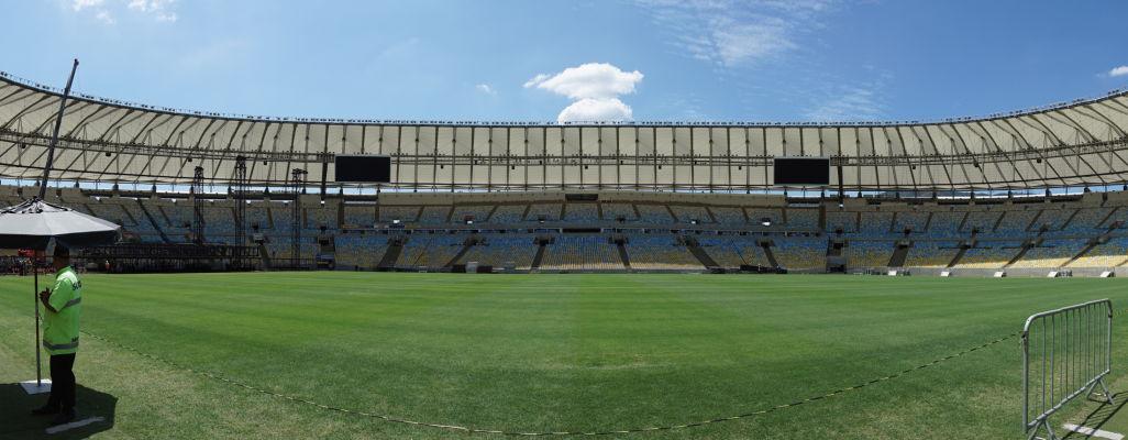 Štadión Maracanã v Riu de Janeiro v plnej kráse