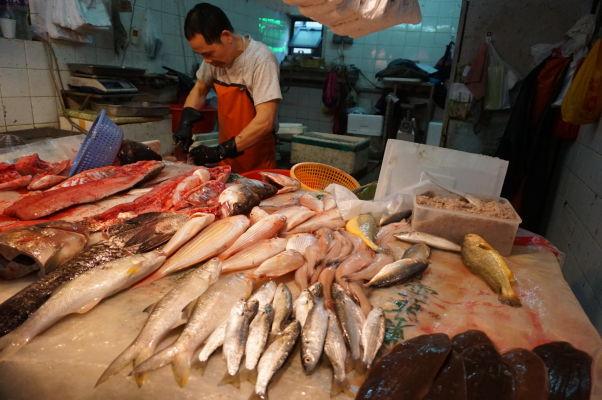 Tržnica v Taipe - miestni mäsiari dodajú to najčerstvejšie mäso