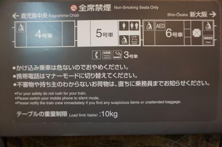 Informáčný panel pred každým sedadlom veľmi dôkladne informuje o dispozíciach vlaku