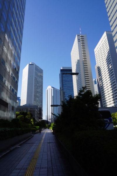 Budova metropolitnej vlády (Točó) v Tokiu - nachádza sa v biznisovej časti mesta, ktorá je mimo pracovných hodín dosť ľudoprázdna