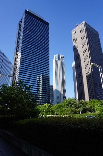 Okolie budovy metropolitnej vlády (Točó) v Tokiu