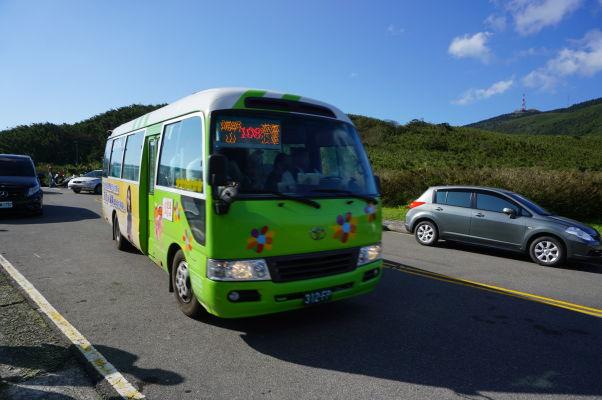 Autobus 108 premávajúci okolo národného parku Yangmingshan