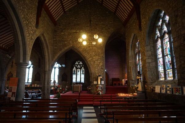 Čierne opátstvo (Black Abbey) v Kilkenny - hlavná loď a chórus