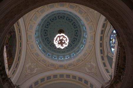 Hlavná kupola radnice zvnútra
