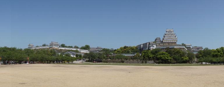 Panoramatický pohľad v pevnosti Himedži