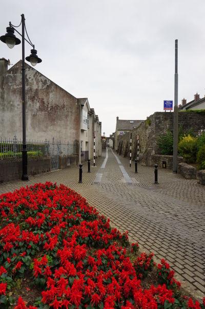 Malebné kamenné uličky Kilkenny sú lemované kvetmi