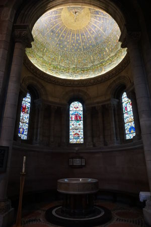 Katedrála sv. Anny v Belfaste - Krstiteľnica s mozaikou
