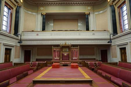 Horná komora (senát) severoírskeho parlamentu v Belfaste