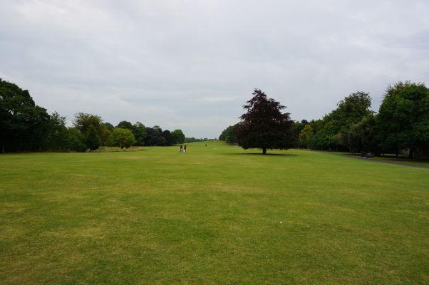 Park priliehajúci k stredovekému hradu v Kilkenny