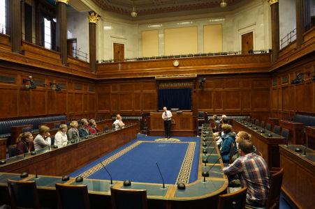 Dolná komora severoírskeho parlamentu v Belfaste