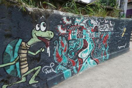 Graffiti sú neoddeliteľnou súčasťou favely