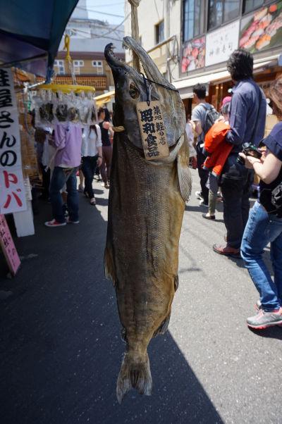 Na rybej tržnici Cukidži (Tsukiji) v Tokiu nájdete obrovský výber z darov mora