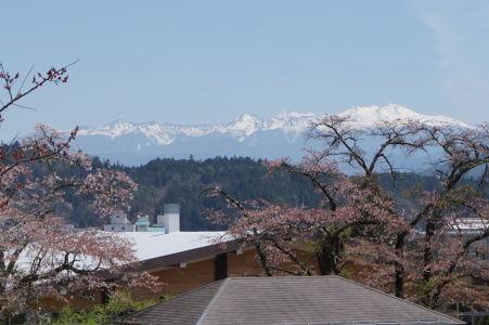 Japonské Alpy pri pohľade z Takayamy
