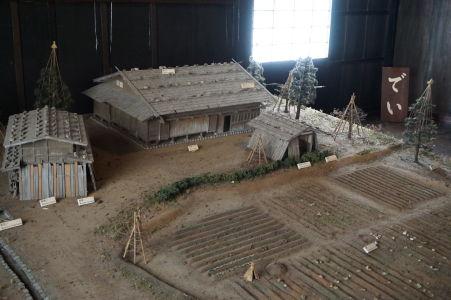 Model domu v japonskej dedinke