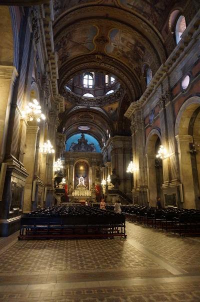 Chrám Candelárie z 18. storočia v historickom centre Ria de Janeiro