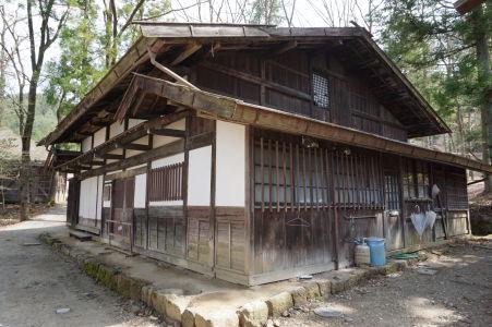 Drevený domček v skanzene Hida no Sato