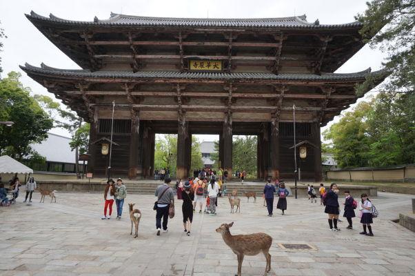Južná brána (Nandaimon) chrámu Tódai-dži v Nare